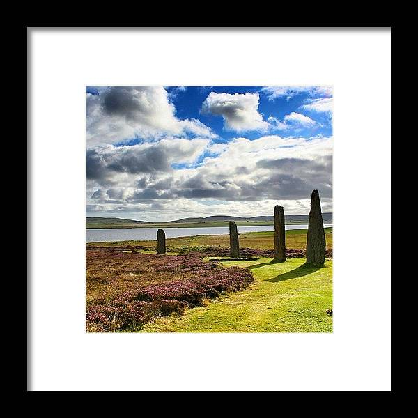 Shotaward Framed Print featuring the photograph Ring Of Brodgar - Scotland by Luisa Azzolini