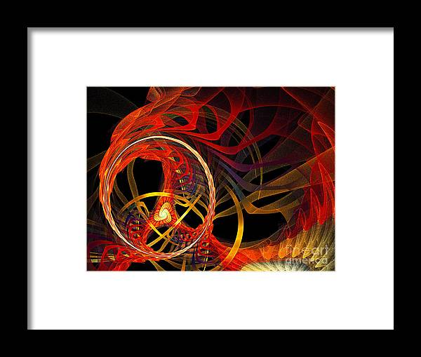 Andee Design Abstract Framed Print featuring the digital art Ring Of Fire by Andee Design