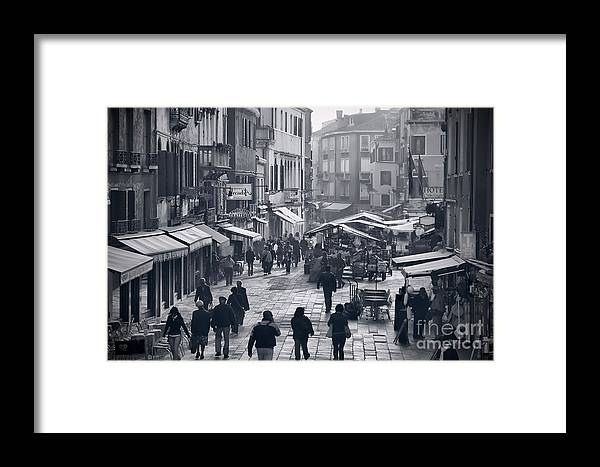 Venice Framed Print featuring the photograph Rio Terra San Leonardo Street by Gabriela Insuratelu
