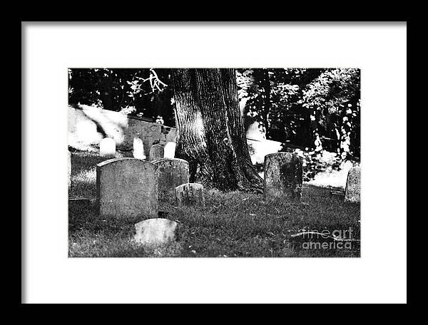 Cemetery Framed Print featuring the photograph R.i.p. by Joseph Perno