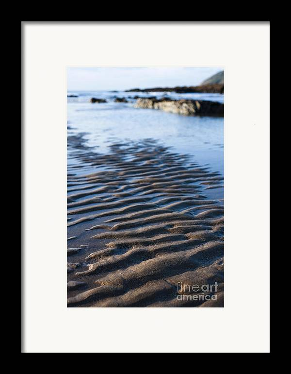 Autumn Framed Print featuring the photograph Ripples In The Sand by Anne Gilbert