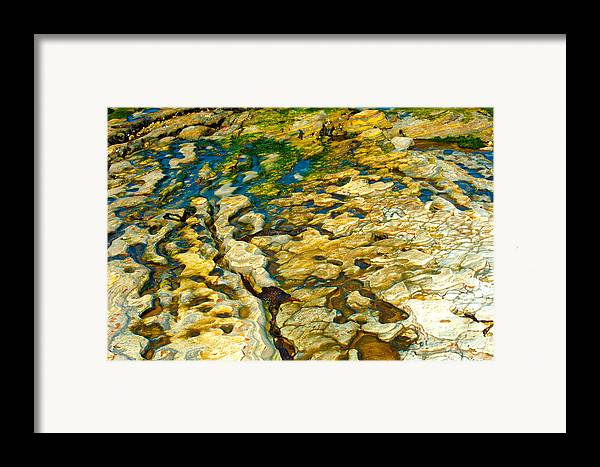 Abstract Nature Framed Print featuring the photograph Ripples In Time by Artist and Photographer Laura Wrede