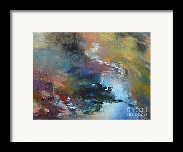 Water Framed Print featuring the painting Ripples No. 2 by Melody Cleary