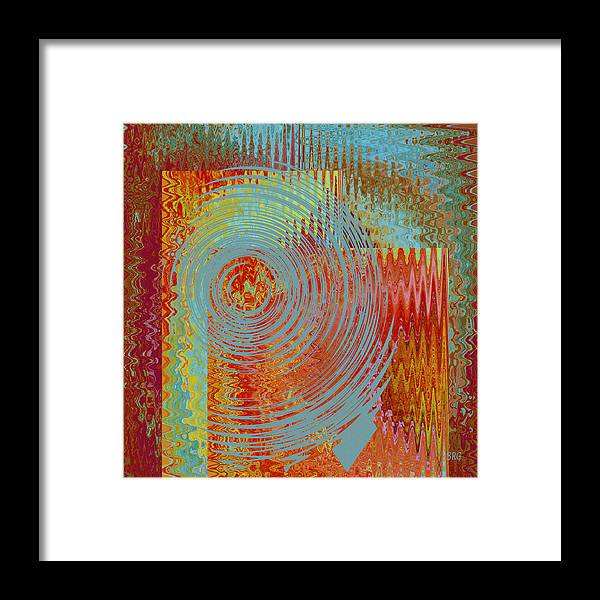 Multicolored Abstract Framed Print featuring the digital art Rippling Colors No 2 by Ben and Raisa Gertsberg