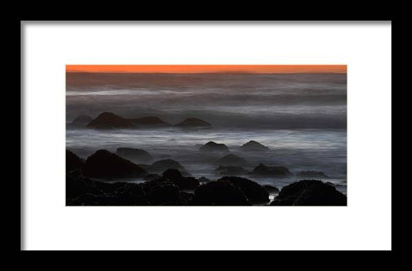 Ocean Framed Print featuring the photograph Rising Tide At Fitzgerald Marine Preserve On The California Coast by Scott Lenhart