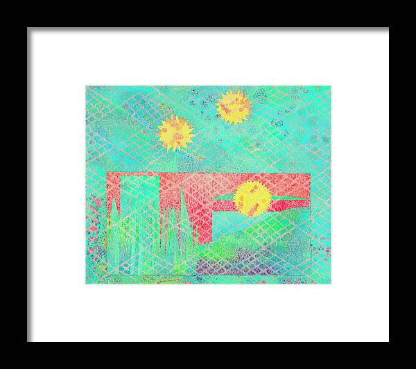 Abstract Framed Print featuring the mixed media Rita's Meadow by Strangefire Art    Scylla Liscombe