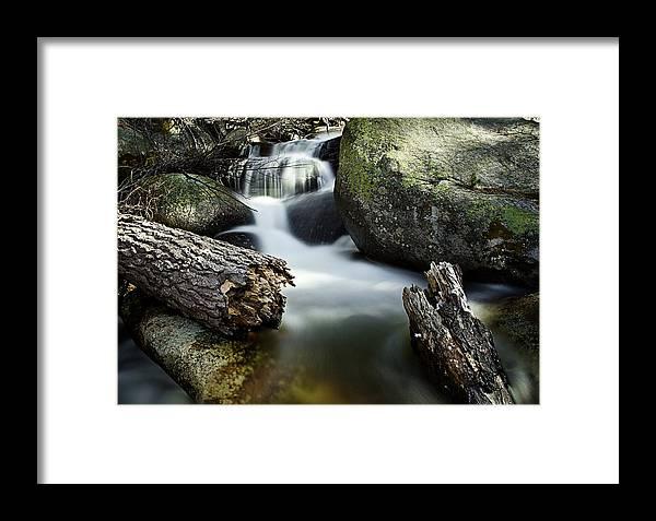 Rocks Framed Print featuring the photograph River And Rocks by Daniel Czerwinski
