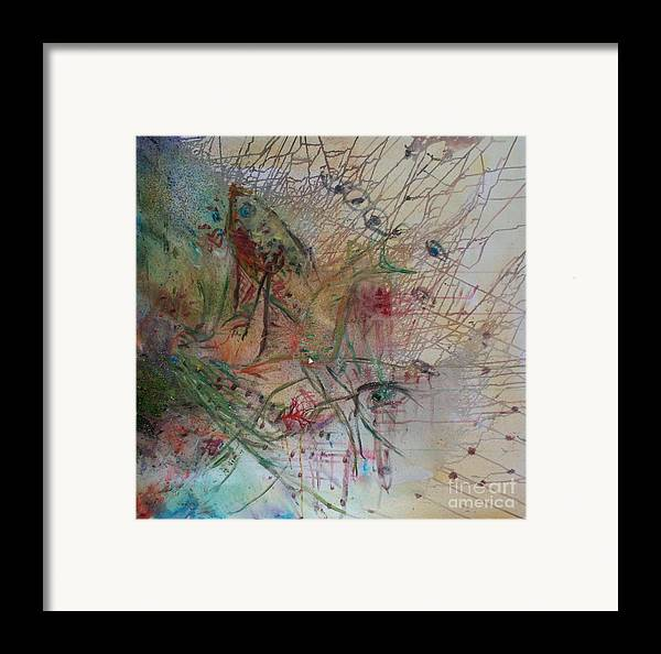 Abstract Framed Print featuring the painting River by Avonelle Kelsey