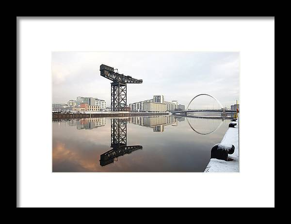 Glasgow Framed Print featuring the photograph River Clyde Reflections by Grant Glendinning