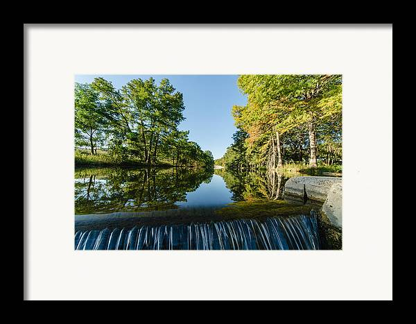 Texas Framed Print featuring the photograph River Falls In The Fall On The Guadalupe River by Jeffrey W Spencer