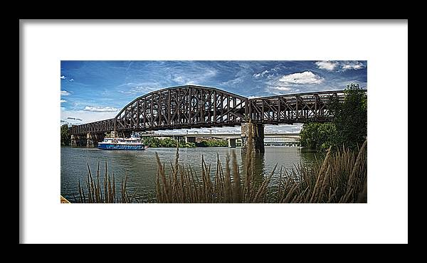River Framed Print featuring the photograph River Ferry by Brian Archer