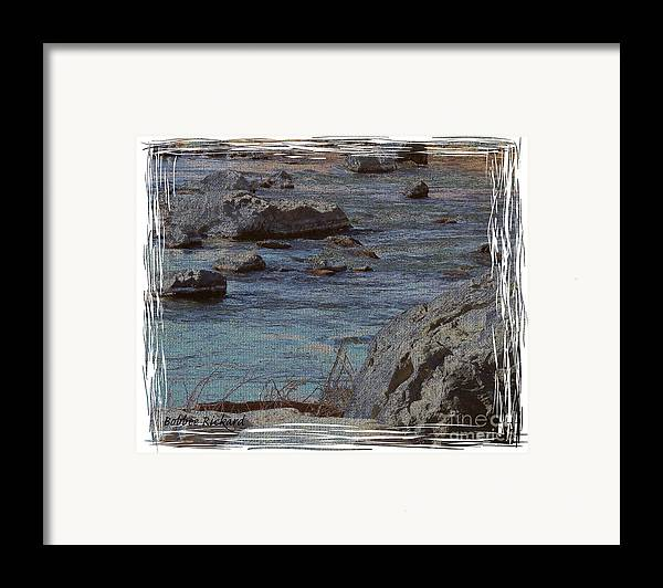 Truckee River Framed Print featuring the photograph River Flows by Bobbee Rickard