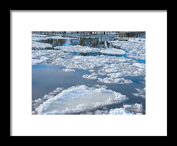 Ice Framed Print featuring the photograph River Ice by Ann Horn