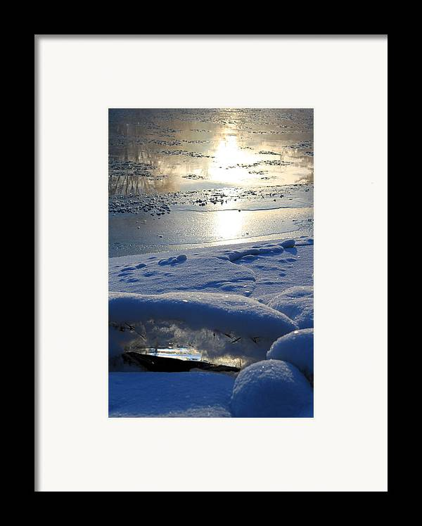 River Ice Framed Print featuring the photograph River Ice by Hanne Lore Koehler