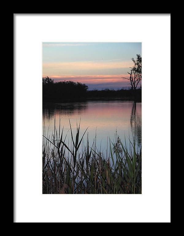 River Murray Sunset Framed Print featuring the photograph River Murray Sunset Series 2 by Carole-Anne Fooks