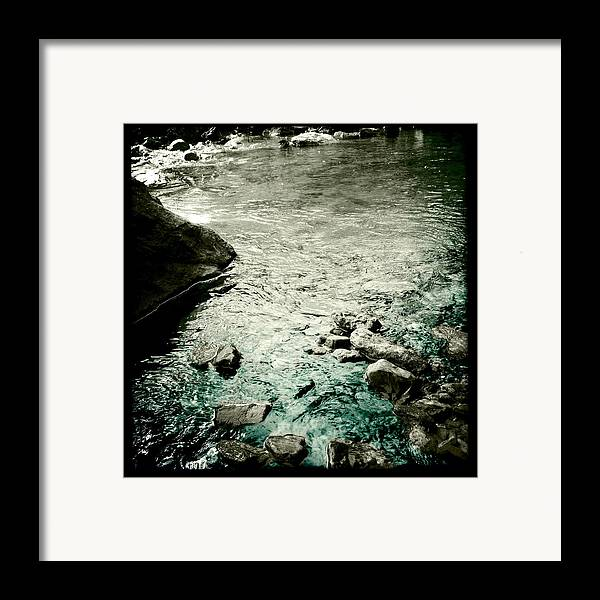 River Rocked Framed Print featuring the photograph River Rocked by Susan Maxwell Schmidt
