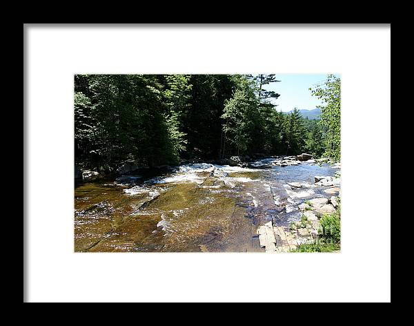 River Framed Print featuring the photograph River Running Over Rocks by Christiane Schulze Art And Photography