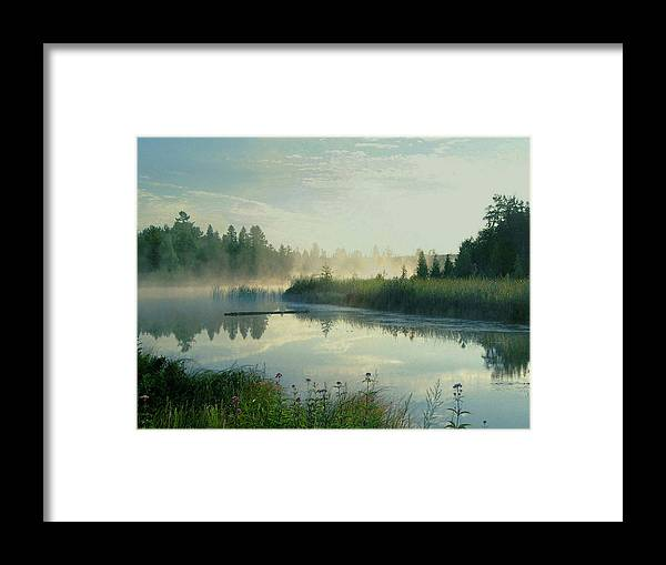 River Framed Print featuring the photograph Summer Serenity by Lorraine Keil
