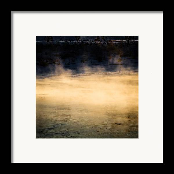 Nature Framed Print featuring the photograph River Smoke by Bob Orsillo