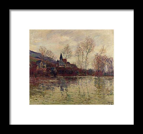 Framed Print featuring the painting River View by Panolamani Holdings