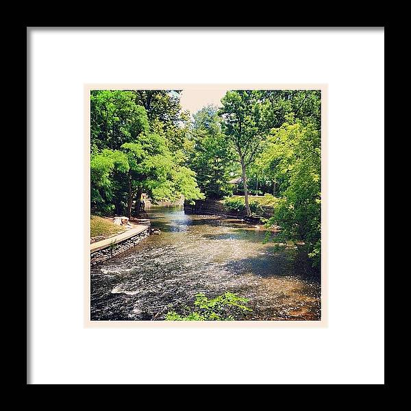 Water Framed Print featuring the photograph River Walk by Mike Maher