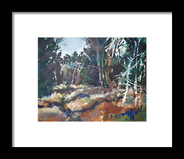River Framed Print featuring the painting River Woods by Dale Jorgensen