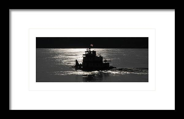 Riverboat Framed Print featuring the photograph Tugboat by Leon Hollins III