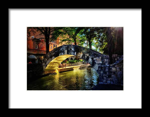 San Antonio Framed Print featuring the photograph Riverwalk In The Sun by Tricia Marchlik