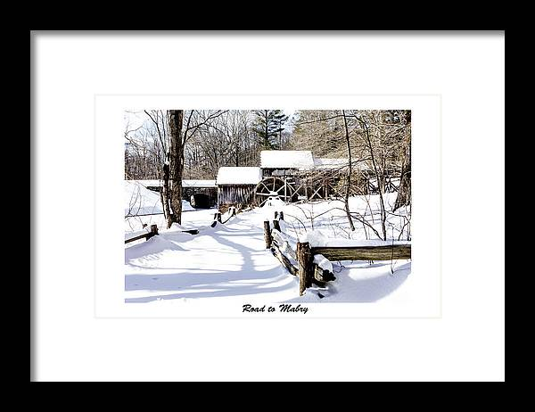 Snow Framed Print featuring the photograph Road To Mabry by Terry Spencer