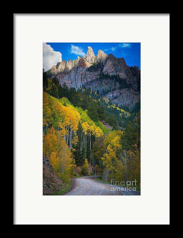 America Framed Print featuring the photograph Road To Silver Mountain by Inge Johnsson