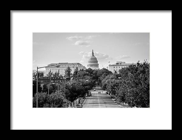 Washington D.c. Framed Print featuring the photograph Road to the Capital by Ryan Routt