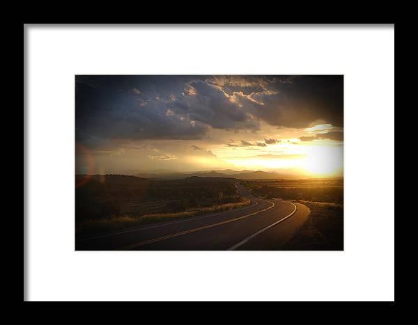 Landscape Framed Print featuring the photograph Robert Melvin - Fine Art Photography - Arizona Sunset by Robert Melvin