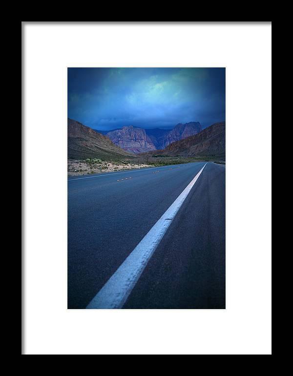 Landscape Framed Print featuring the photograph Robert Melvin - Fine Art Photography - Blue Diamond Storm by Robert Melvin