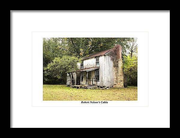 Nostalgia Framed Print featuring the photograph Robert Nelson's Cabin by Terry Spencer