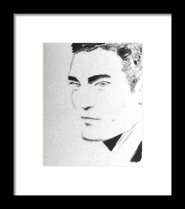 Robert Pattinson Famous Actor Filmstar Movies Popular Paints Framed Print featuring the painting Robert Pattinson 235 by Audrey Pollitt