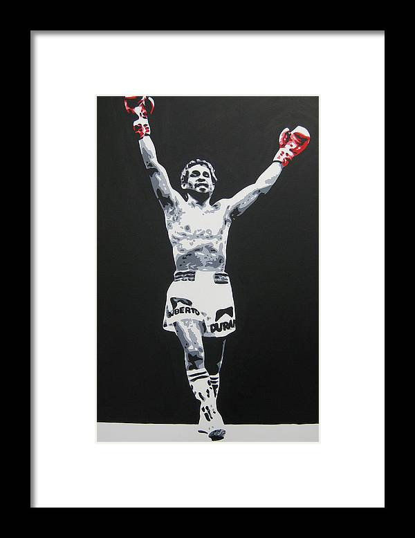 Roberto Duran Framed Print featuring the painting Roberto Duran 1 by Geo Thomson