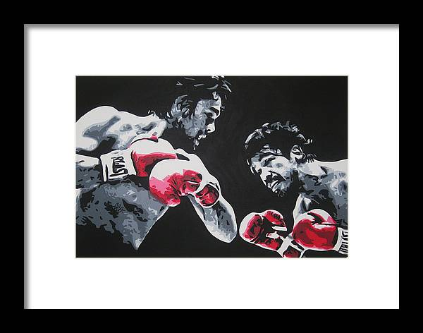 Roberto Duran Framed Print featuring the painting Roberto Duran 4 by Geo Thomson