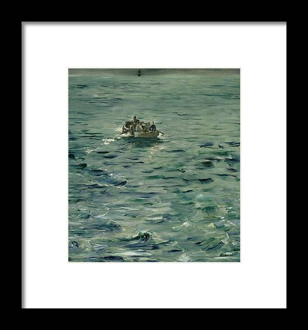 1881 Framed Print featuring the painting Rochefort's Escape by Edouard Manet