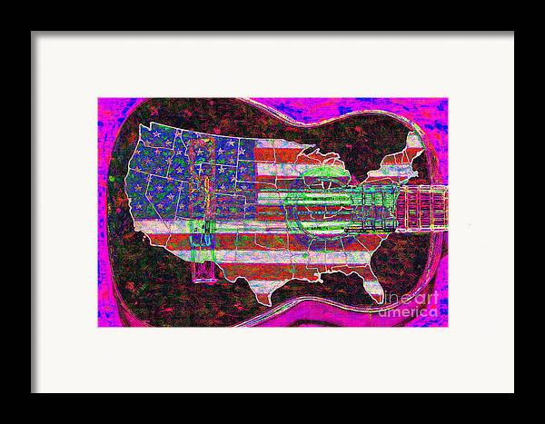 Music Framed Print featuring the photograph Rock And Roll America 20130123 Violet by Wingsdomain Art and Photography
