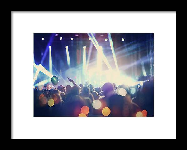 Event Framed Print featuring the photograph Rock Concert by Gilaxia