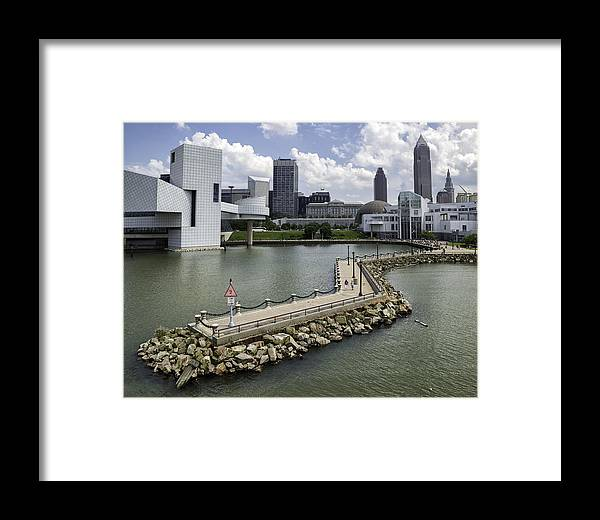 Rock And Roll Hall Of Fame Framed Print featuring the photograph Rock Hall Of Fame On Lake Erie by Richard Kopchock