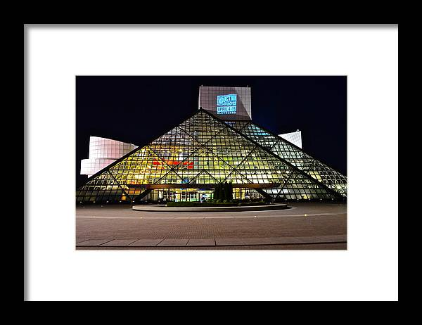 Rock And Roll Framed Print featuring the photograph Rock n Roll hall of Fame Induction by Frozen in Time Fine Art Photography