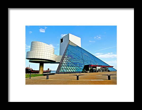 Rock Framed Print featuring the photograph Rock n Roll Hall of Fame by Frozen in Time Fine Art Photography