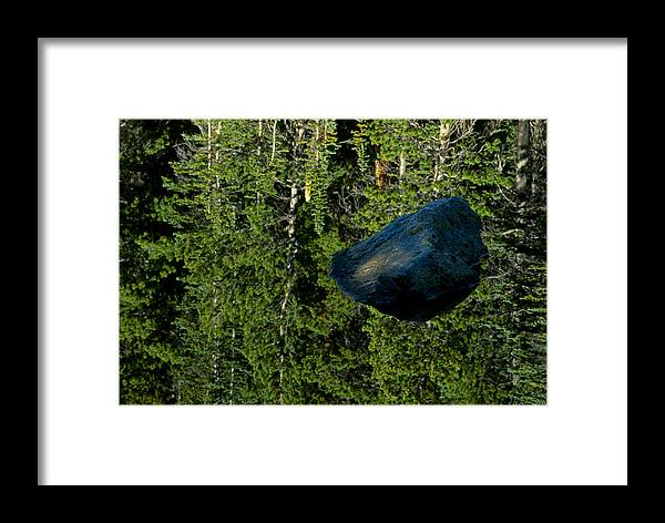 Reflection Framed Print featuring the photograph Rock Out Of Reflecting Lake by Eric Albright