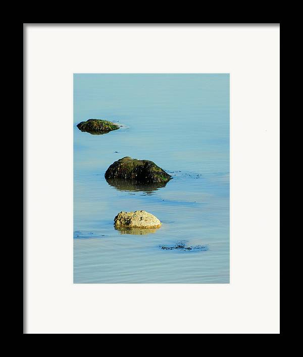 Rocks In The Sea Framed Print featuring the photograph Rock Pool by Sharon Lisa Clarke