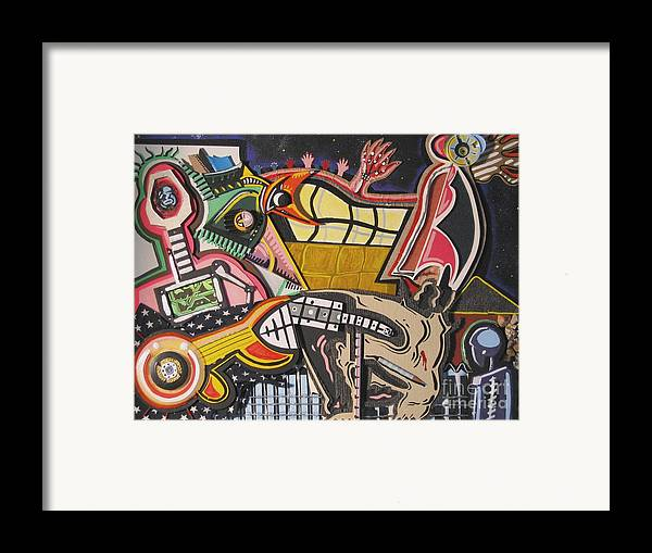 Abstract Framed Print featuring the mixed media Rock Soggy by Mack Galixtar