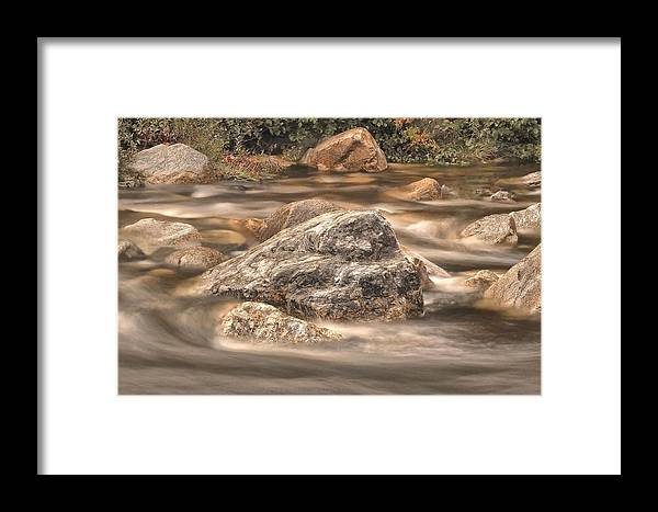 New Hampshire Framed Print featuring the photograph Rock Steady by Charles Tisdale