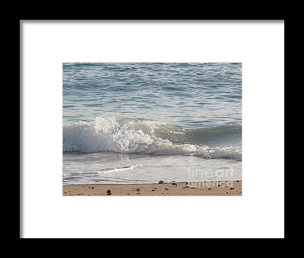 Beaches Framed Print featuring the photograph Rock-strewn Beach by Deborah Smolinske
