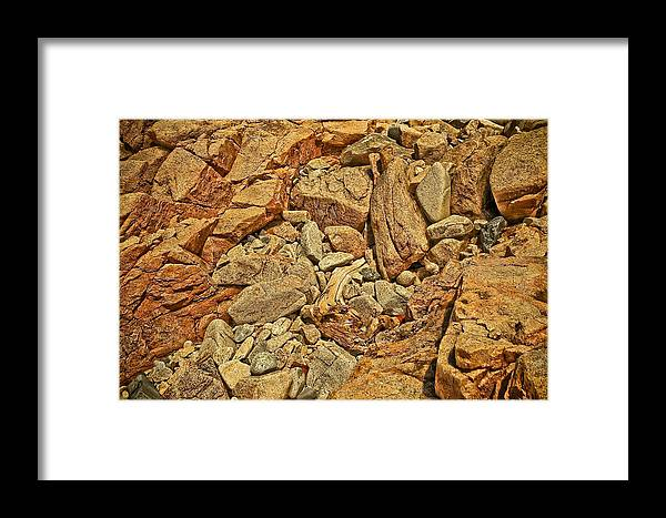 Rocks Framed Print featuring the photograph Rock Texture by PMG Images