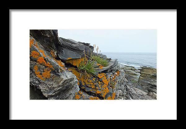 Ocean Framed Print featuring the photograph Rockbound Coast by Kathleen Heseltine
